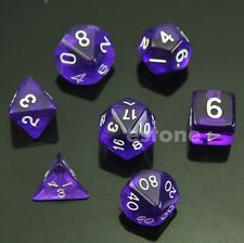 7-Dice Sided D4 D6 D8 D10 D12 D20 Magic-the-Gathering D&D RPG Poly Game Set PL
