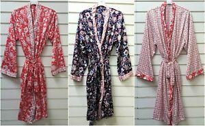 LADIES QUALITY SATIN DRESSING GOWN/ROBE UK SIZES 8-16