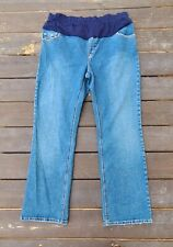 Levi Strauss Stretch waist Bootcut Misses sz 18 Maternity Jeans 32in inseam