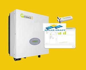 Énergie renouvelable Anduleur 3 phases Growatt 4000 5000 6000 W Convertisseur