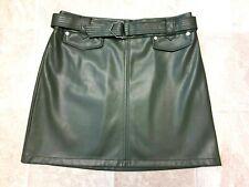 BNWT, F&F, Ladies Green, Faux Leather Mini Skirt, Size 14