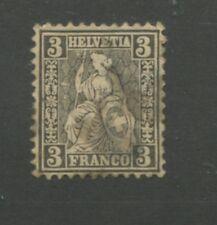 1862 Switzerland Helvetia Postage Stamp #42 Used CAT VALUE $160 ~ S8306