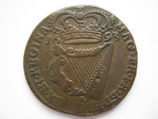 Ireland 1693 halfpenny milled edge NVF