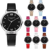 Neu Klassisch Damenuhr Uhr Leder Analog Quarz Mode Casual Armbanduhr Watch
