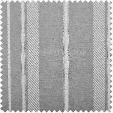 MORBIDO come Cotone Cuscino Curtain uphosltery tessuti Ampia Stripe Bianco Grigio