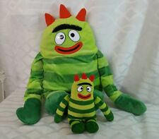 Yo Gabba Gabba Brobee  Plush Child's Back Pack-Zipper Up Pouch +TY BEANIE TOY 7""