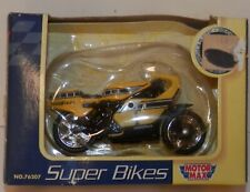 Motor Max 1:24 Super Bikes Yellow Goodyear Motorcycle #76207 NIB