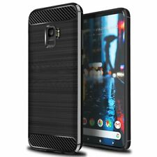 For Samsung Galaxy A6 Plus Carbon Fibre Gel Case Cover Shockproof & Stylus Pen