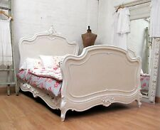 STUNNING ANTIQUE FRENCH DOUBLE ROCOCO CRESTED BED - C1920