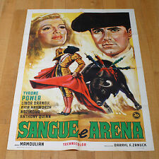 SANGUE ARENA manifesto poster Corrida Tyrone Power Rita Hayworth Blood and Sand