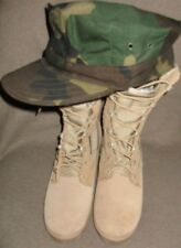 Military Issue Combat Boots Hot Weather Desert Tan 4.5 Women NEW condition hat