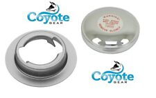 Aluminum Filler Neck Weld Flange Bung & Chrome Vented Stant Cap Coyote Gear
