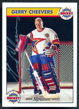 Zellers Masters of Hockey Gerry Cheevers Autographed Signed Card w/COA #094/1000