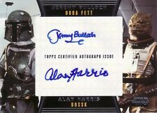 Star Wars Galactic Files 2 Rare Jeremy Bulloch & Alan Harris Dual Auto Card