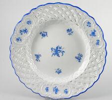 Meissen Durchbruchteller blaue Streublümchen 20cm ~1890