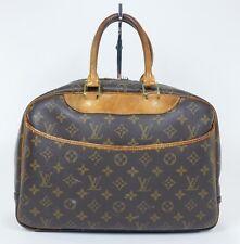 AUTH Vintage Louis Vuitton Deauville Bag Cosmetics Tote Travel Shoe Purse D154