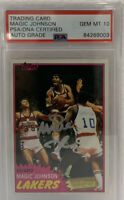 1981 TOPPS MAGIC JOHNSON 2ND YEAR CARD #21 *AUTO GRADED PSA GEM MINT 10* LOW POP