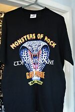 MONSTERS OF ROCK 2003 UK TOUR T SHIRT * SIZE LARGE * WHITESNAKE GARY MOORE Y&T *