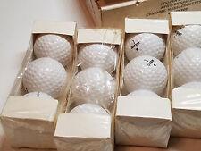 Vintage Dozen SPALDING DOT Golf Balls 100 Compression Unused New Old Stock NOS U