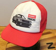 VINTAGE GMC TRUCKS TRUCKERS HAT RED/WHITE SNAPBACK VERY GOOD CONDITION Z