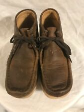 Clarks Originals Girl's Brown Leather Lace Up Chukka Boots SZ 3 M
