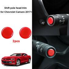 2pcs Blue Control Pole Top Cover Trim For Chevrolet Camaro 2016 2017 Accessories