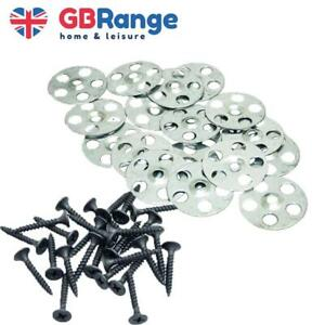 Insulation Washer and Screw Metal Fixing Discs Tile Backer Insulation Wall Floor