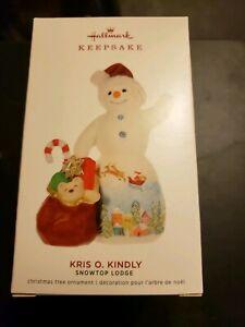 Hallmark 2019 Kris O. Kindly Snowtop Lodge Snowman Series Christmas Ornament
