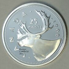 1996 Canada Silver Proof 25 Cents