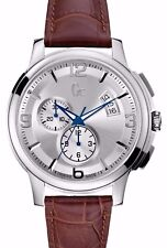 GUESS COLLECTION, SWISS MEN'S  STAINLESS CHRONOGRAPH WATCH, X83005G1S NIB,
