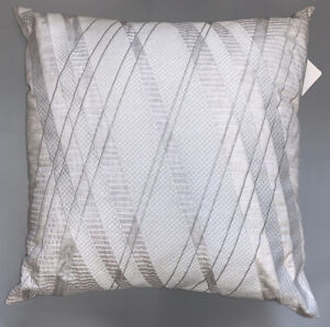"Hotel Collection Lateral Cotton 20"" x 20"" Decorative Pillow Gray MSRP: $150"