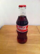 COCA COLA 2004 EDITION GLASS BOTTLE MIXER SIZE FULL & SEALED COLLECTABLE