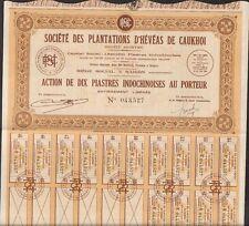 Plantations d'HEVEAS de CAUKHOI (INDOCHINE) (S)
