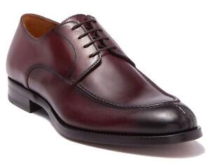 Antonio Maurizi Mens Apron Toe Lace Up Leather Derby Shoes Porcino Size 42, US 9