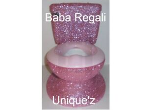 GLITTER MY SIZE PINK POTTY CHAIR (ALL COLOR GLITTERS)