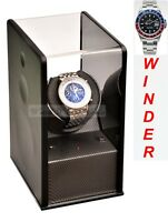 Luxury Display Carbon Fibre look Single Automatic Watch Winder-Carbon Velvet-MP1