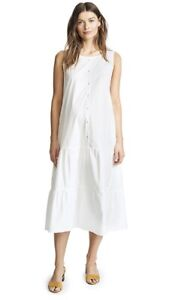 Hatch Maternity Women's THE ELENORE DRESS White Cotton Poplin Size 0 (XS/0-2)NEW