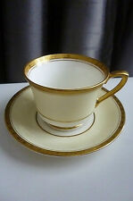 Royal Worcester Royal David Z348 Art Deco Gold Encrusted Demitasse Cup & Saucer