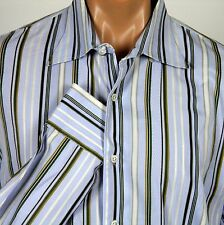 Tommy Bahama Indigo Palms LS Shirt Mens XL Multi Color Stripes 100% Cotton