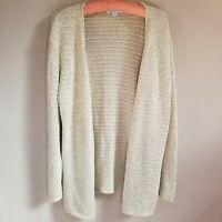 Pendleton Women's Open Knit Cardigan Sweater 100% Cotton Open Front Cream Large