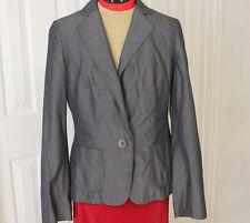 BANANA REPUBLIC Blazer Jacket Short Fitted Coat Classic Gray Womens Size 8