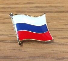 RUSSIA RUSSIAN TRI COLOUR QUALITY ENAMEL LAPEL PIN BADGE EUROPE COUNTRY