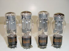 4 Vintage 1960's RCA 6AS7G 6AS7 6080 5998 O Getter Matched Amp Tube Quad