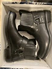 New GBX Mens Black Western Motorcycle Harness Boot With Tag Leather GBX 132241