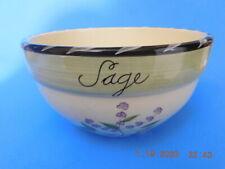 "Certified International""Culinary Herbs"" Theme Ceramic Sm Bowl 8""X.5"""