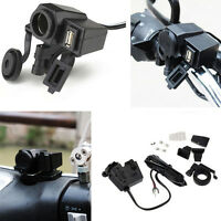 Motorcycle Waterproof Phone Cigarette Lighter USB Power Socket Charger Outlet
