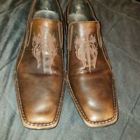 LOUNGE BY MARK NASON WINGED CROSS MENS BROWN LOAFERS SZ 10