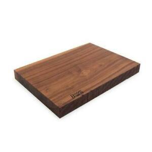 John Boos Black American Walnut Rustic-Edge Design Reversible Cutting Board