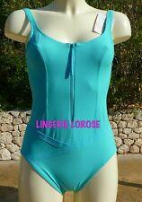 Maillot de bain 1 pièce de RASUREL taille 85/2 turquoise neuf sous blister