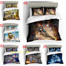 Motorbike Quilt/Doona/Duvet Cover Set Single/Double/Queen/King Size Bed Linen